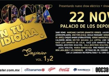 Rock en tu Idioma Sinfónico Vol. 2 • Palacio De Los Deportes • CDMX
