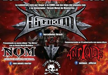 Hellblast Night 3 presenta:  Hercobulus en Gato Calavera, CDMX